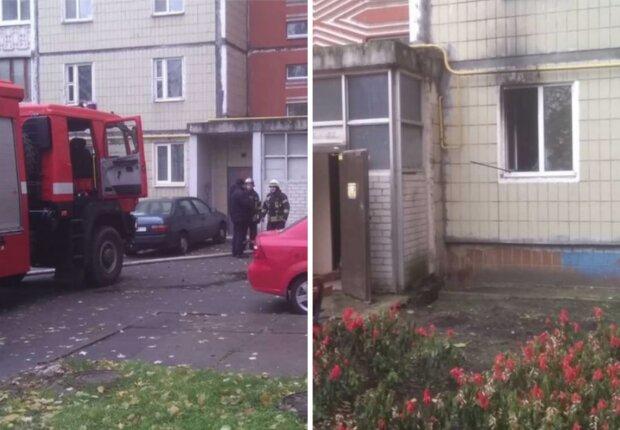Серьезный пожар охватил многоэтажку в Киеве: фото и подробности с места ЧП