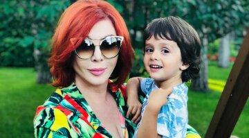 Ірина Білик з сином, табриз Ахмадов