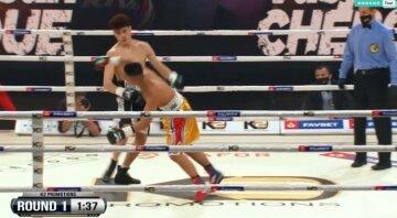 """Украинский боксер отправил соперника в нокаут на 2-й минуте боя, кадры победы: """"немец не мог подняться"""""""
