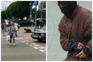 """Украинцы заметили """"попрошайку-ниндзю"""" с iPhone в руках: """"Ловко выровняла спину"""""""