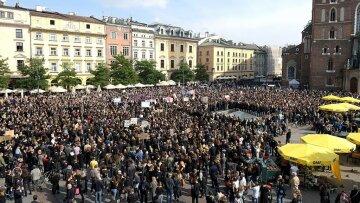 протест, митинг, польша, толпа