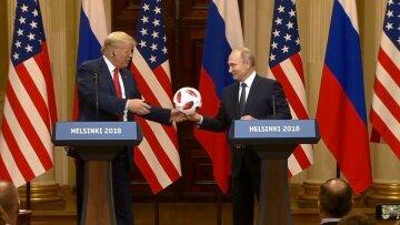 Позволяет получить доступ: в мяче, который подарил Путин Трампу, нашли «сюрприз»