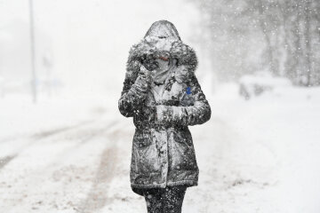 Снег, зима, метель, буря, погода, Getty Images