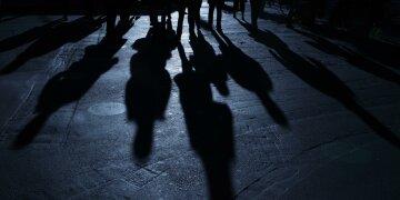 люди, тень
