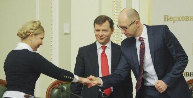 Юлия Тимошенко Олег Ляшко Арсений Яценюк коалиция парламент УНИАН