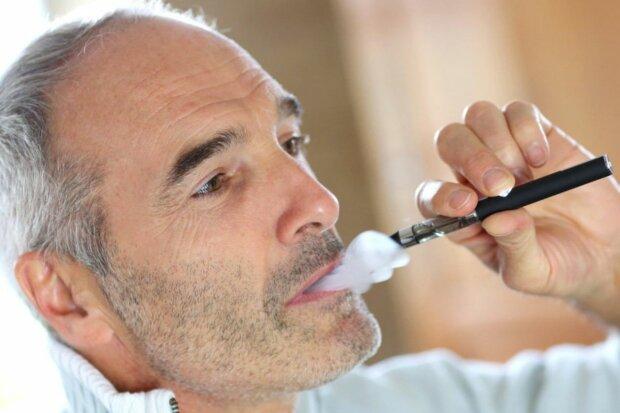 курение, электронная сигарета, курить, парить, мужчина