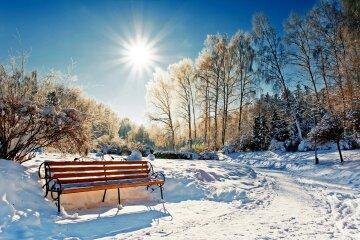 зима солнце снег погода пейзаж
