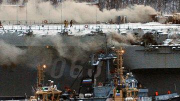 Адмирал Кузнецов, пожар
