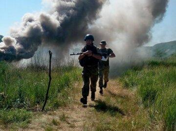 Кадры экстремальной тренировки украинских бойцов (фото)