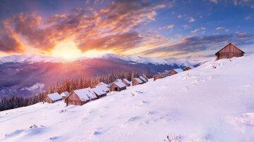карпаты, зима, снег
