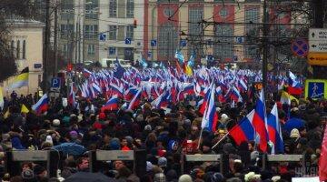 УНИАН, Россия, Протесты