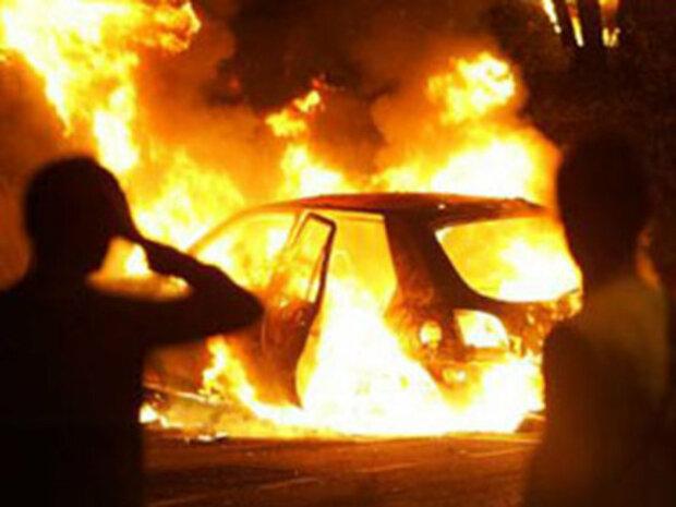 авто горит пожар дтп авария