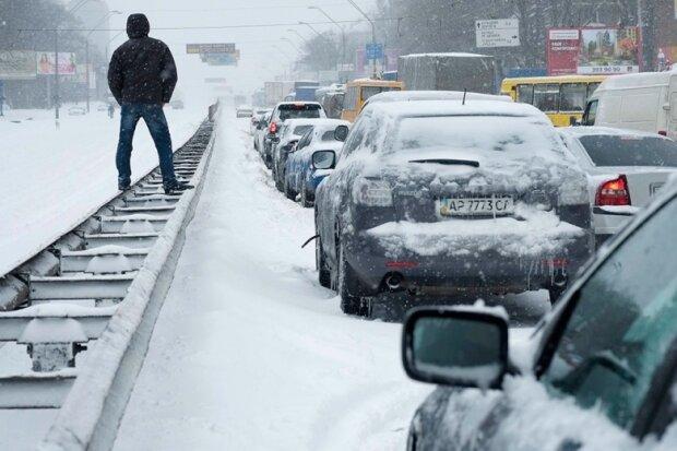 снегопад,авто
