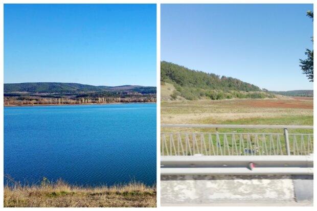 Симферопольское водохранилище полностью пересохло: кадры катастрофы