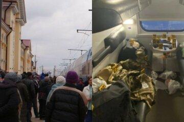 """Військові влаштували стрілянину в поїзді """"Укрзалізниці"""", примчав спецназ: перші подробиці і фото з місця"""