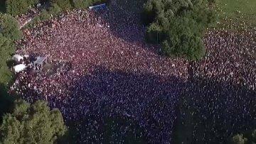 """""""Майдан"""" в Білорусі набирає обертів: десятки тисяч людей вийшли на вулиці, кадри"""