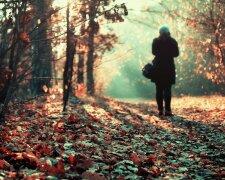 осень, девушка, грусть, женщина