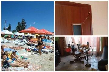 Українські туристи влаштували погром в готелі і втекли, протаранивши ворота: кадри дебошу