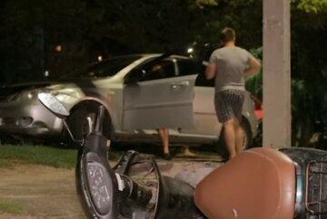 За кермом був батько: підлітки потрапили під колеса авто в Дніпрі, кадри