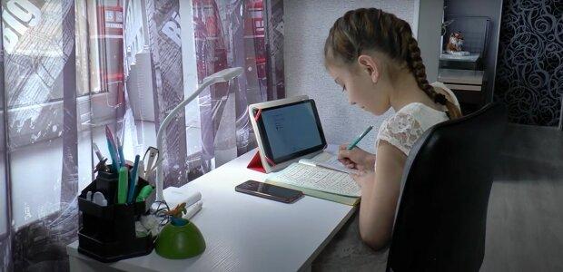 дистанционное обучение школьник ученик школьница