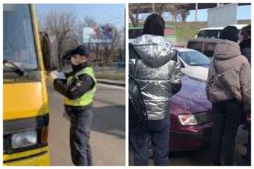 """""""Как добраться на работу?"""": в Одессе копы ворвались в маршрутку и выгнали пассажиров, видео"""