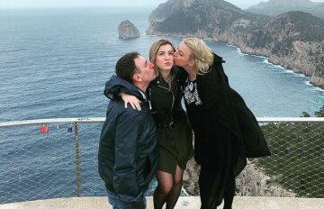 Инна Белоконь с мужем и дочкой