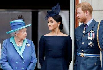 королева елизвета, принц гарри, меган маркл