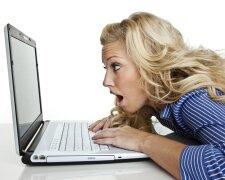 соцсеть, ноутбук, женщина, работа