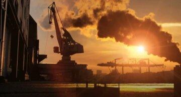 выбросы, завод, промышленность, углекислый газ,