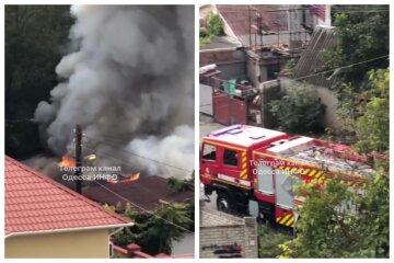 Мощный пожар разгорелся в Одессы, столбы едкого дыма видно издалека:  кадры ЧП
