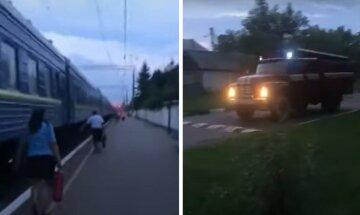 """Поезд """"Укрзализныци"""" остановили и атаковали, кадры последствий: """"полиция не успела"""""""