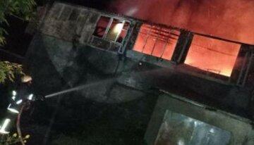 """В Одеській області спалахнув склад, фото: """"у вогні 200 квадратних метрів"""""""