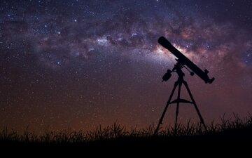 телескоп, небо, звезды