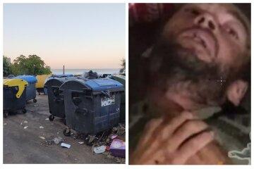 """Больного парня бросили возле мусорного бака в Одессе: """"привезли вместе с матрасом"""", кадры дикости"""