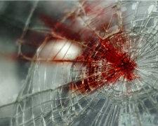 ДТП, стекло, кровь, стекло с кровью, ДТП, авария