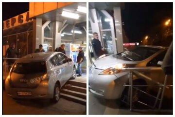 """П'яний одесит """"в'їхав"""" в супермаркет на машині, відео: як його покарали"""