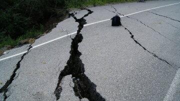 дорога, ремонт дороги, ямы, обвал, асфальт