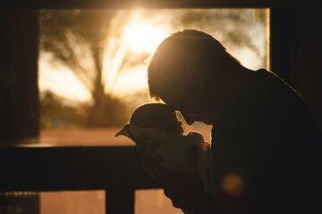 отец, папа, семья, ребенок, младенец