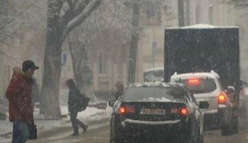 """В Одессу пришла зима, объявлено штормовое предупреждение: """"мокрый снег, метель и гололед"""""""