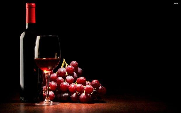 вино, виноград, бокал