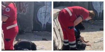 14-летняя одесситка отравилась алкоголем на пляже, видео: час просидела одна на солнце