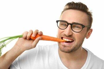 морковь, мужчина