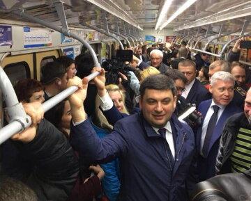 Гройсман в метро Харькова