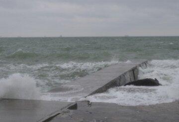 шторм, море, пляж, Одеса
