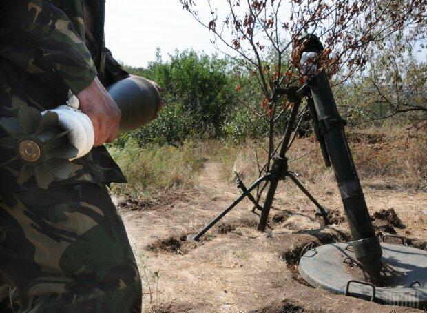 миномет маскировка АТО оружие вооружение