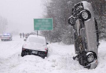 шторм ураган снежная буря снегопад зима