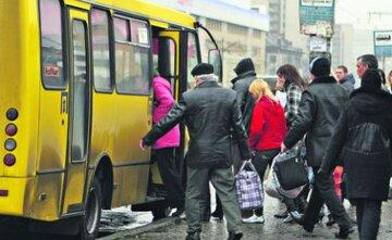 маршрутка, люди, пассажиры