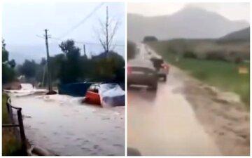 Новый мощный удар стихии обрушился на Крым, кадры бедствия: дома и дороги ушли под воду