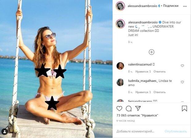 """Идеальная звезда Victoria's Secret впечатлила раскованностью в малюсеньком бикини: """"Потрясающая"""""""