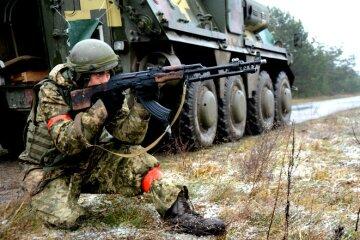 БТР, АТО, война, Донбасс